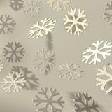 Snowflakes white on white Royalty Free Stock Photo