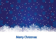 Snowflakes on winter background. Abstract winter blue background, with snowflakes, illustration Royalty Free Stock Image