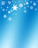 Snowflakes, winter background Royalty Free Stock Photo