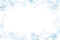 Snowflakes  winter background Stock Photography