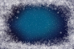 Snowflakes - winter background. Blue Winter Stock Image