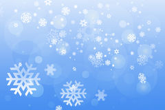 Snowflakes winter background Stock Images