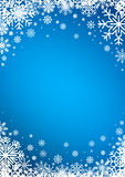 Snowflakes winter background Royalty Free Stock Photo