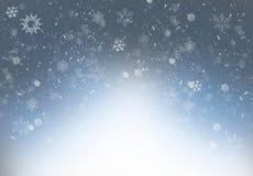 Snowflakes - winter background. Snowflakes - grey blue frozen winter background Stock Photos