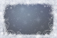 Snowflakes - winter background. Snowflakes -grey frozen  winter background Royalty Free Stock Photography