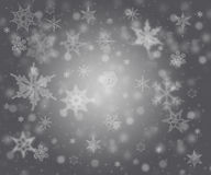 Snowflakes - winter background. Snowflakes - grey frozen winter background Royalty Free Stock Image