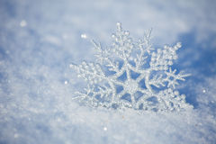 Snowflakes in winter royalty free stock photos