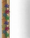 Snowflakes winter border colorful Royalty Free Stock Photo