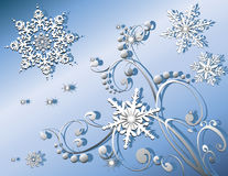 Snowflakes Winter or Christmas Stock Photos