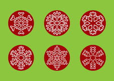 Snowflakes for winter and Christmas holidays. Types of snowflakes in winter holidays Stock Photography