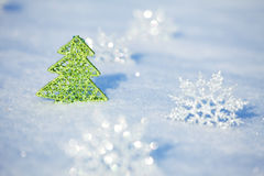 Snowflakes at winter Royalty Free Stock Images