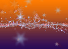 Snowflakes winter field cloud background. Happy new year, Christmas theme blurred bokeh Royalty Free Stock Photos