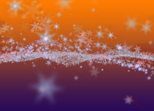 Snowflakes winter field cloud background. Happy new year, Christmas theme blurred bokeh Royalty Free Stock Image