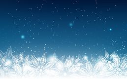 Snowflakes, winter holiday, elegant, abstract background vector vector illustration
