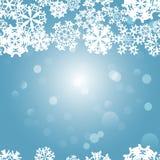 Snowflakes Winter seamless border, seamless texture, endless pattern Stock Photo