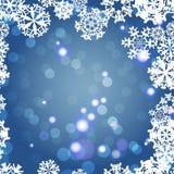 Snowflakes Winter seamless border, seamless texture, endless pattern Stock Photography
