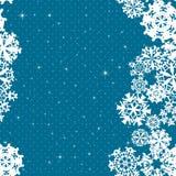 Snowflakes Winter seamless border, seamless texture, endless pattern Royalty Free Stock Photos