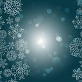 Snowflakes Winter seamless border, seamless texture, endless pattern Stock Images
