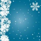 Snowflakes Winter seamless border, seamless texture, endless pattern Royalty Free Stock Image