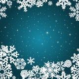 Snowflakes Winter seamless border, seamless texture, endless pattern Stock Image