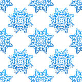 Snowflakes winter seamless pattern Royalty Free Stock Images