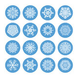 Snowflakes winter set Royalty Free Stock Images