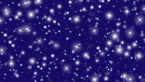 Snowflakes winter stars snow star blue background