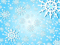 Snowflakes & xmas Stock Photography