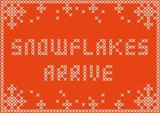 Snowflakesarrive Image libre de droits