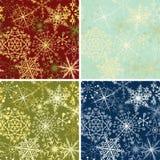 Snowflakesbakgrunder Royaltyfri Foto