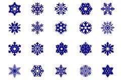 Snowflakeset Royaltyfri Foto