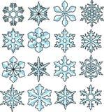 Snowflakevektor Stock Illustrationer