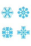 snowflakevinter Vektor Illustrationer