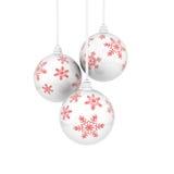 snowflaks рождества шариков иллюстрация штока