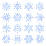 Snowfllakes. Various snowfllakes set isolated on white background Royalty Free Stock Photography