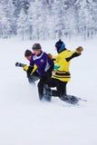 Snowfootball en Finlande images libres de droits