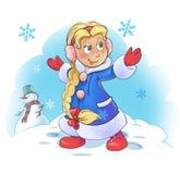 Snowgirl stock abbildung