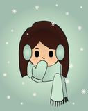 Snowgirl illustrazione vettoriale