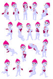 Snowgirl Art Illustration Stock Photos