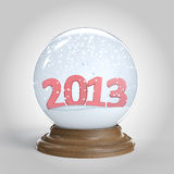 snowglobe with 2013 happy new year Royalty Free Stock Images