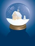 Snowglobe cabin Royalty Free Stock Photography