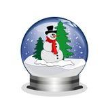 Snowglobe con el muñeco de nieve Imagenes de archivo