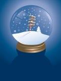 Snowglobe del Polo Nord Fotografie Stock