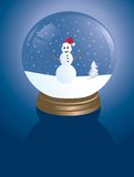 Snowglobe del pupazzo di neve Immagine Stock Libera da Diritti