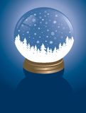 Snowglobe with forest stock image