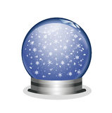 Snowglobe with golden stars Stock Images