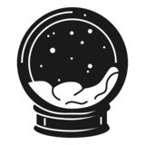 Snowglobe icon, simple style royalty free illustration