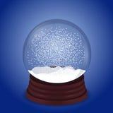 Snowglobe op blauw royalty-vrije illustratie