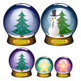 Snowglobe set Stock Images