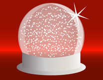 Snowglobe on a Silver Base Royalty Free Stock Photos